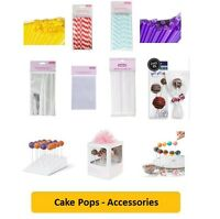 CAKE POPS (Cake Decorating/Baking/Coloured/Accs/Sticks/Stands/Gift Bags/Cello)