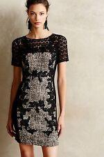 MOULINETTE SOEURS Anthropologie Lace Crochet Tweed Boucle Twill Dress SOLD OUT!!