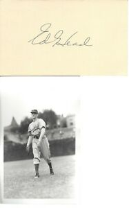 ED HEAD, NO HIT PITCHER, BROOKLYN DODGERS, SIGNED GPC WITH BRACE PHOTO