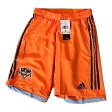 New Mens Adidas MLS Houston Dynamo soccer shorts orange size small