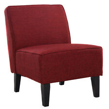 Accent Chair Armless Contemporary Dining Chair Living Room Furniture Red New