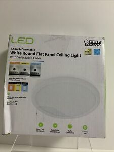 Feit Electric 7.5 in. 12-Watt Title 24 Dimmable White Integrated LED Round Flat