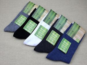 5 Pairs Fashion 80% Bamboo Fiber Dress Socks For Mens Sock Deoborant size 7-9