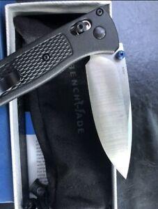 Benchmade 535 Black With Satin Blade Ambidextrous Foldable Pocket Knife