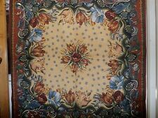 French Floral Tulips  ART TAPESTRY WALL HANGING / TABLECLOTH 56 x 56