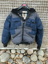 DOWN SNOWBOARD JACKET M6 MISSION SIX MEN's S Blue and Grey WATERPROOF BREATHABLE