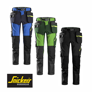 SNICKERS WORK TROUSERS 6940 FLEXIWORK SOFTSHELL STRETCH PANTS HOLSTER POCKETS