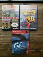 Lot of 3 Complete PS2 Games: Pac-Man World 2, Grand Turismo 3 & Namco Museum