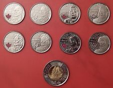 Brilliant Uncirculated 2012/2013 Canada War of 1812 25 Cents & 2 Dollars