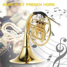 Professional Muslady French Horn B/Bb Flat 3 Key Brass Lacquer Gold with L5S7