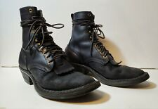 "Whites Boots Packer Rough-Out/Smooth-Out Black 8"" 10.5 B"