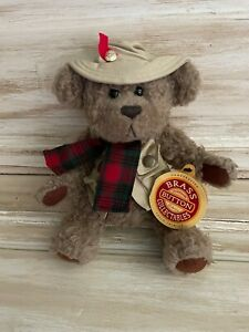 """Brass Button Bear Collection Tanner The Bear 10"""" 1997 Stuffed Animal Toy NEW"""