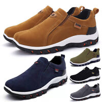 MENS RUNNING HIKING SNEAKERS TRAINERS SLIP ON CASUAL WALKING SPORTS SHOES SIZE