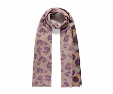 Reversible Hearts Dots Long Scarf or Shawl double sided purple yellow green NWT