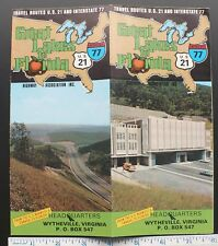 1970s I-77 & US 21 Brochure & Color Map From Cleveland  Great Lakes to Florida.