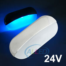 24V Blue Semi Oval Stainless Waterproof LED Indicator/Courtesy/Step/Stairs Light