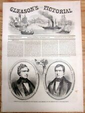 Best 1852 illustrated newspaper w ELECTION Democrat FRANKLIN PIERCE as PRESIDENT