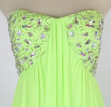 Morgan & Co USA Grand  $200 Evening Prom Formal Cruise Long Dress size 7 Lime