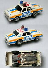 1 1980 Aurora AFX Magnatraction Overhead Lit STATE POLICE Slot Car Unused #1050
