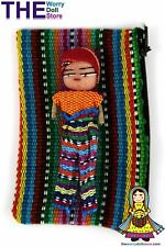 New Worry Dolls Textile Zip Bag with Boy Doll