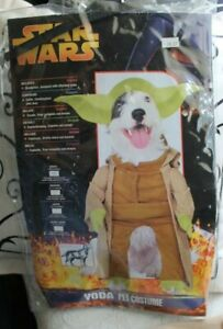 Star Wars Yoda Pet Costume Small for Small Dogs and Cats #50101 Halloween Rubies