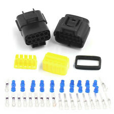 1Set 10 Pin Waterproof Motorcycle Electrical 1.8mm AWG Wire Connector Plug Tool