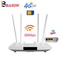 Unlocked 4G LTE Router Wifi Mobile Hotspot Router RJ45 LAN Port SIM Card Solt