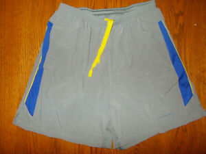NIKE DRI-FIT LIVESTRONG GRAY RUNNING SHORTS WITH LINER MENS LARGE EXCELLENT