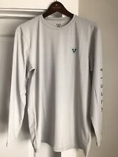 VISSLA All-Time LS Long-Sleeve Tee SPF 50 Surf Sun Shirt Large White MSRP $45