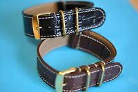 cinturino in pelle ad con passante COCCODRILLO stile nero marrone oro chiusura
