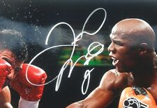 Floyd Money Mayweather Signed Autographed 16x20 Action Photo PSA Sticker