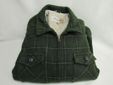 MENS LARGE NATURAL LIFE WOOL BLEND PLAID COAT JACKET OUTERWEAR LINING
