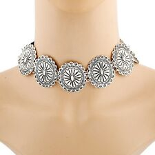 Fashion Carved Flower Retro Statement Charm Necklace