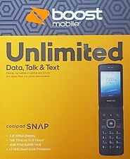 """BRAND NEW - """"BOOST MOBILE"""" Coolpad SNAP Flip Phone - 4G LTE - Black"""