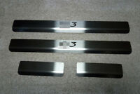 Stainless Steel Door Sill Entry Guard Covers Trim Protector fit Citroen C3 2010-
