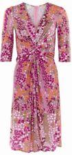 Monsoon Izabel Dress Daniella Helayel Pink Multi Uk 16 Bnwt Floral Silhouette