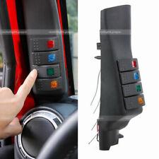 For Jeep Wrangler JK 2007-2018 Black Left Side A-Pillar 4 Switch Pod Panel Kit