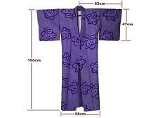 Gorgeous Vintage Purple Silk Tachibana Blossom Design All-Shibori Kimono
