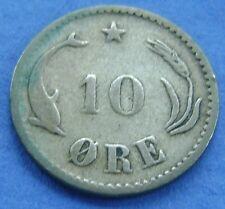 Denemarken - Denmark 10 Ore 1882 Cristian IX - Silver - KM# 795.1