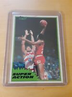 1981/82 Topps #110 Mid West MOSES MALONE Houston Rockets Basketball Card, HOF.
