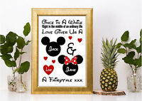 Valentines gift   ❤️   LOVE GIFT PERSONALISED   ❤️   DISNEY ANNIVERSARY PRINT a4