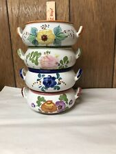 4 Vintage Decorative Ceramic Soup Cereal Bowls Planters