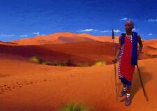 Arte fresco-Out of Africa LV-mano acabado, Edición Limitada (25)
