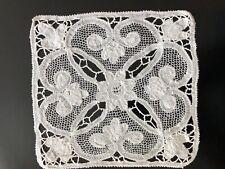 Antique Square Handmade Lace Doily