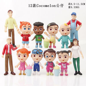 New Cocomelon Family & Friends 12pcs Action Figures Pack Toy Doll Xmas Gift