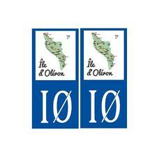 Ile d'Oléron carte autocollant sticker plaque immatriculation droits