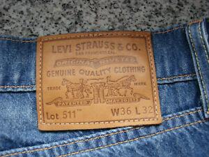 Levi Strauss 511 (W 36, L 32) mit Reißverschluss - gekürztes Bein