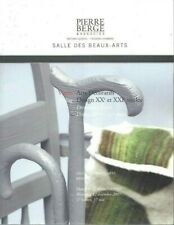 ARTS DECORATIFS  DESIGN CATALOGUE VENTE PIERRE BERGE BRUXELLES 12/12/2007