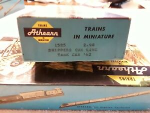 BOX ONLY Vintage Athearn Shippers Car Line Tank Car '62. #1525   BOX ONLY