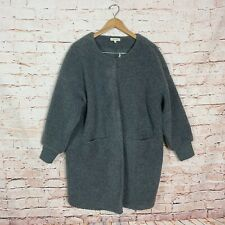 Madewell Bonded Sherpa Cocoon Gray Coat Womens Size Large
